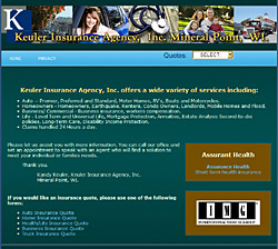 Keuler Insurance Agency Website - click to view